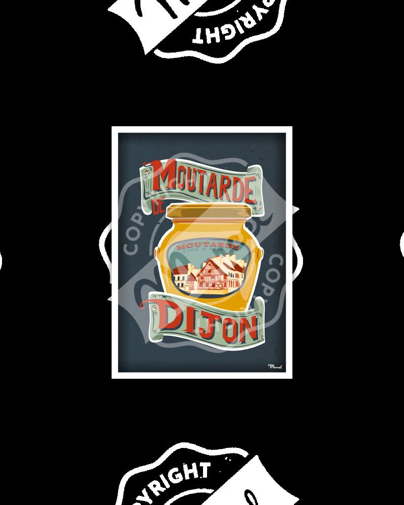 Carte Postale Moutarde de DIJON