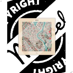 """Postcard BORDEAUX """"Plan Mozaic"""""""