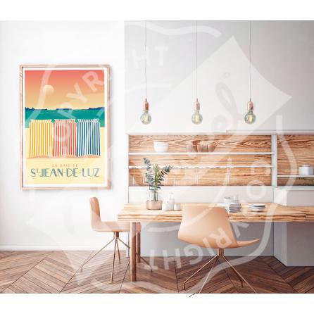 Affiche SAINT-JEAN-DE-LUZ ''Les Tentes''