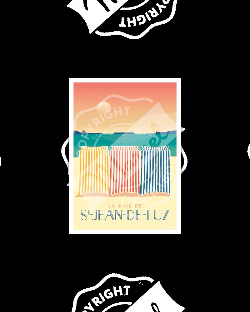 Carte Postale SAINT-JEAN-DE-LUZ ''Les Tentes''