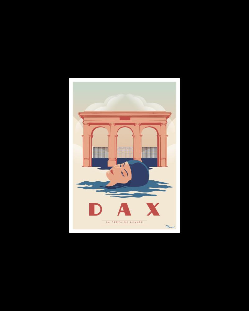 "Postcard DAX ""La Fontaine Chaude"""