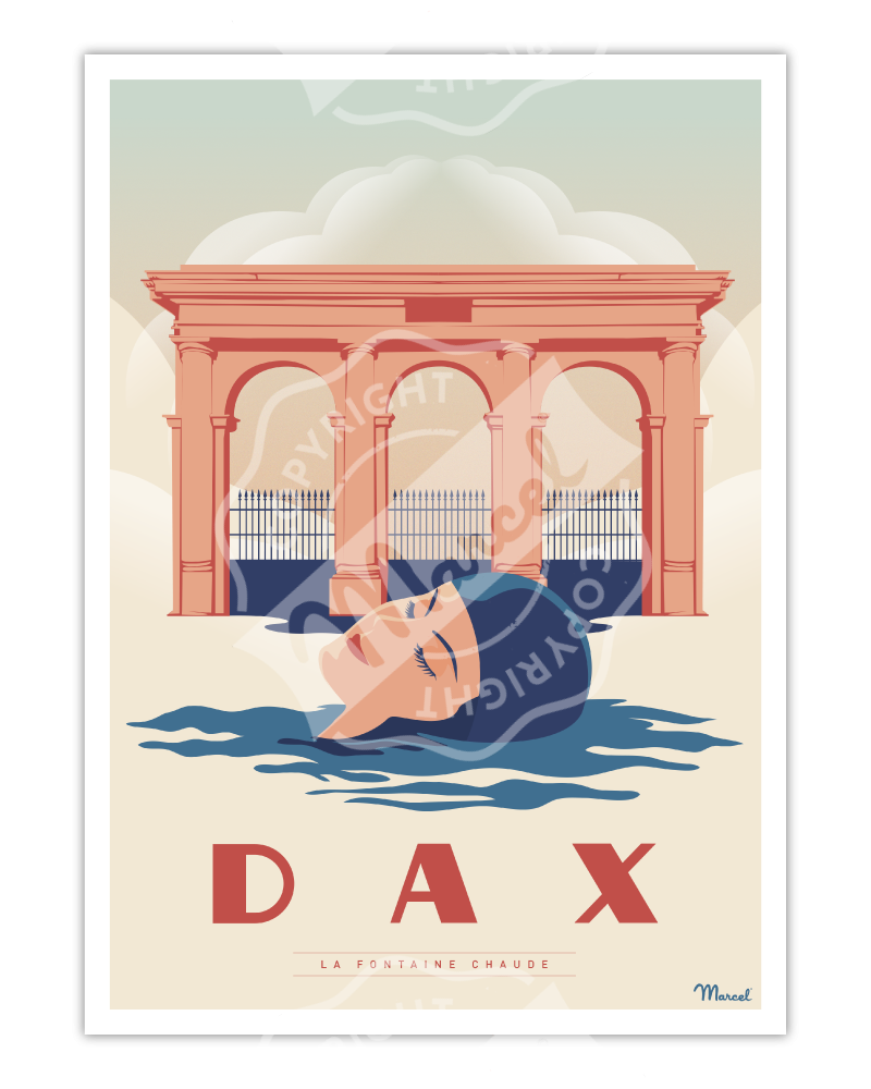 "Affiche DAX ""La Fontaine Chaude"""