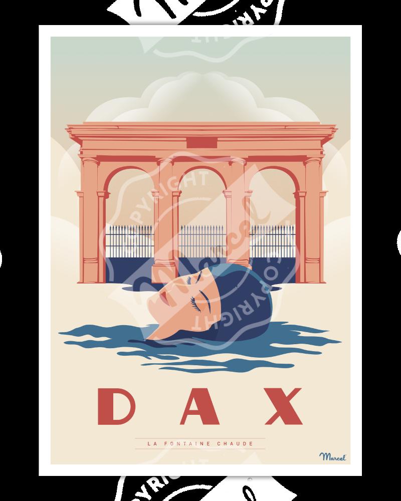 """Poster DAX """"La Fontaine Chaude"""""""