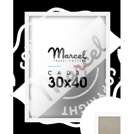 White Wood Frame 30x40