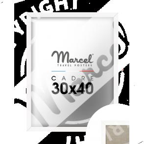 Cadre blanc mat 30X40