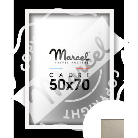 White Wood Frame 50x70