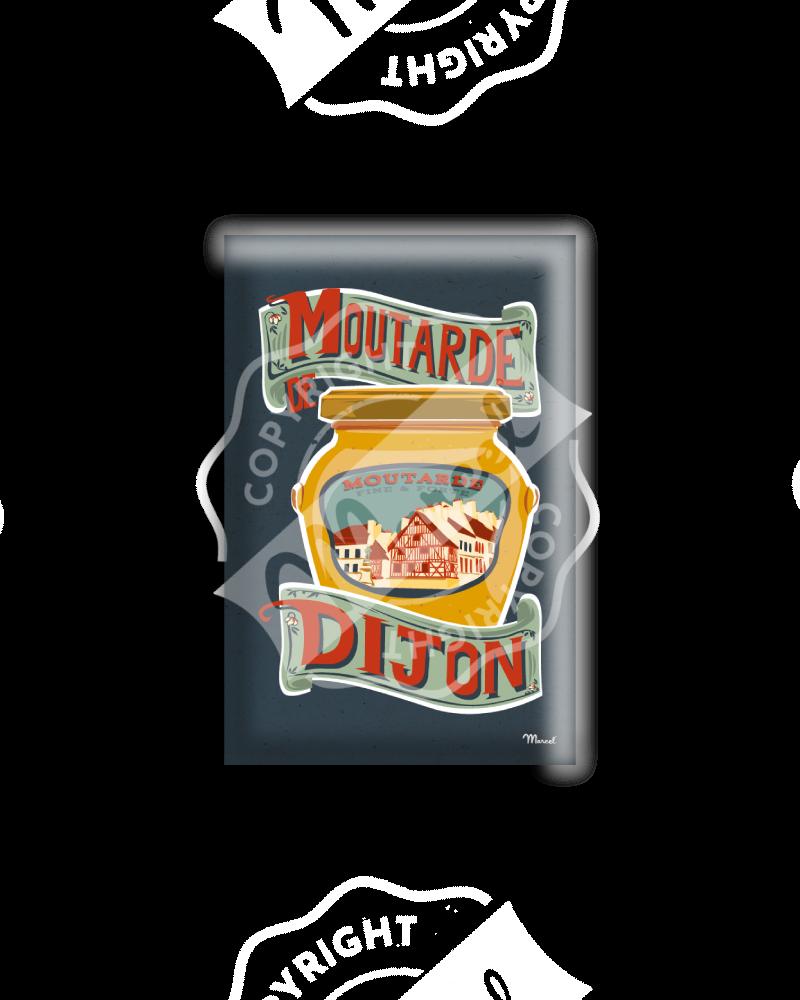 MAGNET MOUTARDE DE DIJON