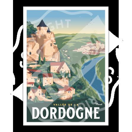Poster LA VALLEE DE LA DORDOGNE