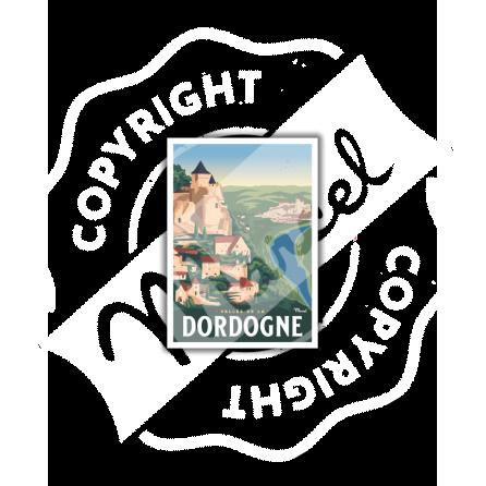 Postcard LA VALLEE DE LA DORDOGNE