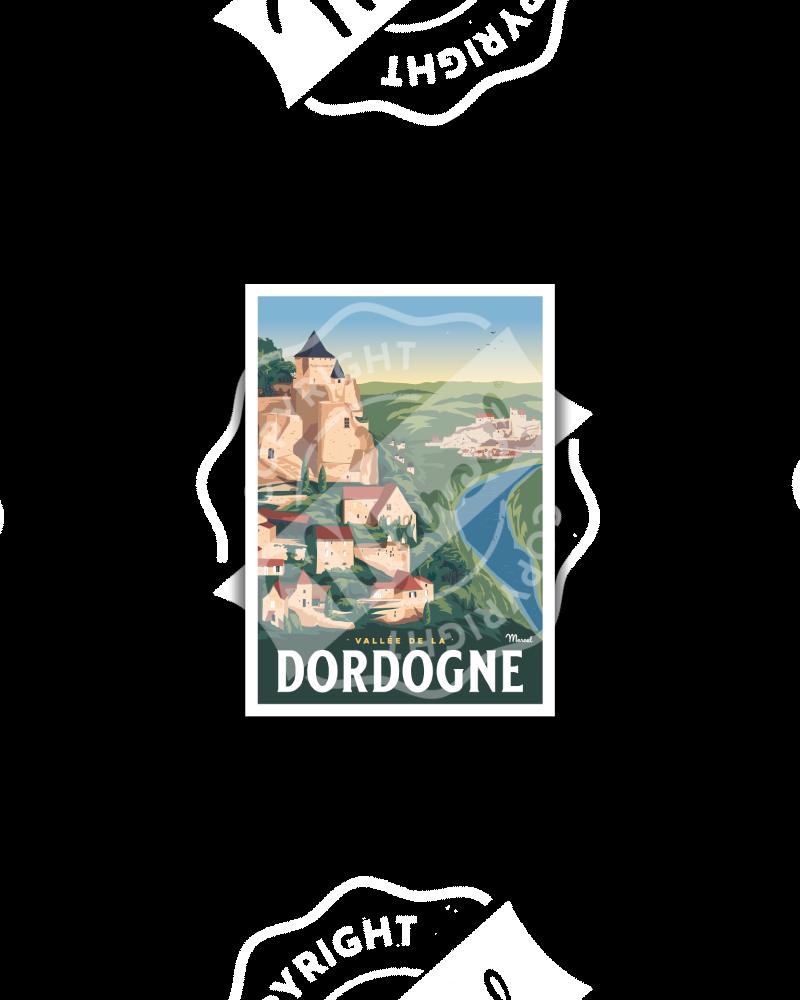 Carte Postale LA VALLEE DE LA DORDOGNE
