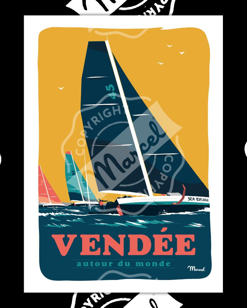 """Affiche VENDEE """"Autour du Monde"""""""