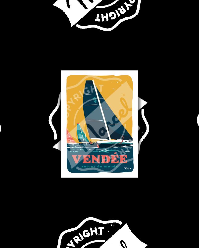 "Carte Postale VENDEE ""Autour du Monde"""