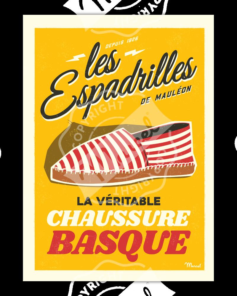 Poster LES ESPADRILLES