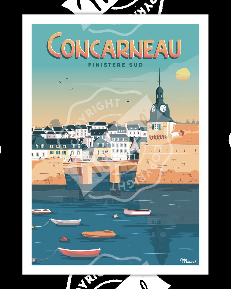 """Poster CONCARNEAU """"Finistère Sud"""""""