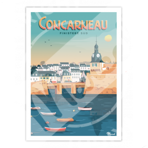 """Affiche CONCARNEAU """"Finistère Sud"""""""