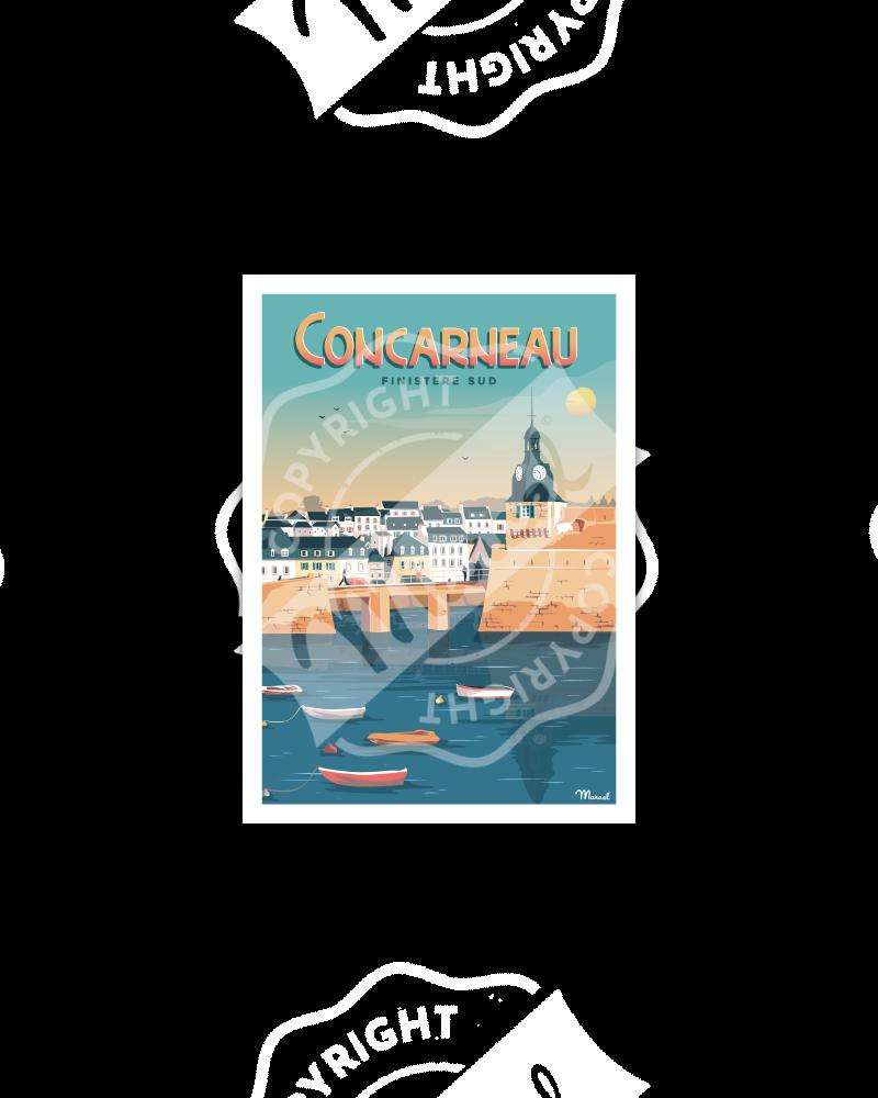 "Postcard  CONCARNEAU ""Finistère Sud"""