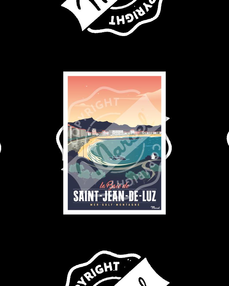 Carte Postale SAINT-JEAN-DE-LUZ ''Sainte Barbe''