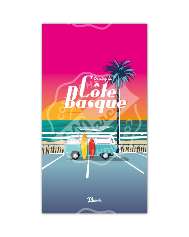 "Beach Towel Marcel CÔTE BASQUE ""Van Sunset"""