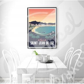 Affiche SAINT-JEAN-DE-LUZ ''Sainte  Barbe''