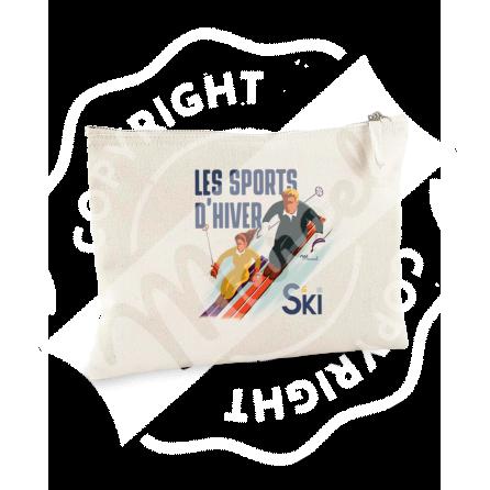 """Pouch """"Jeanne"""" - Les Skieurs"""