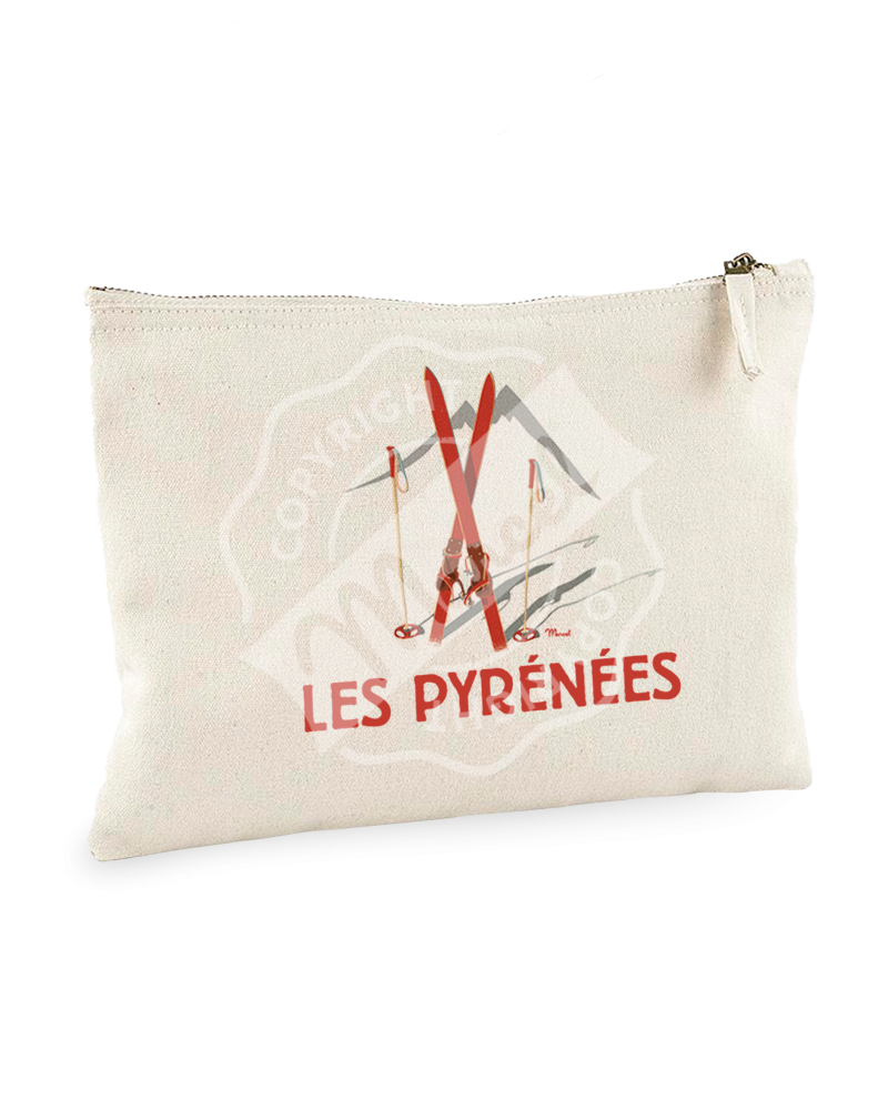 "Pouch "" Jeanne "" - Les Skis Rouges"