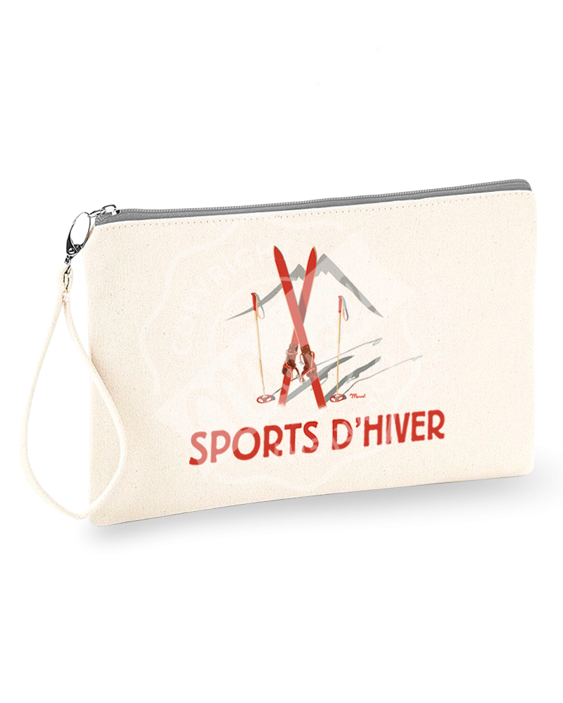 "Pouch "" Jeannette "" - Les Skis Rouges"