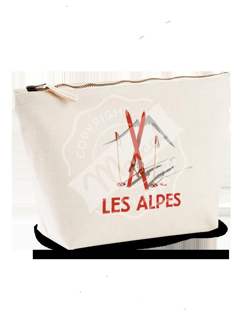 """Trousse de Toilette """"Colette"""" - Les Skis Rouges"""