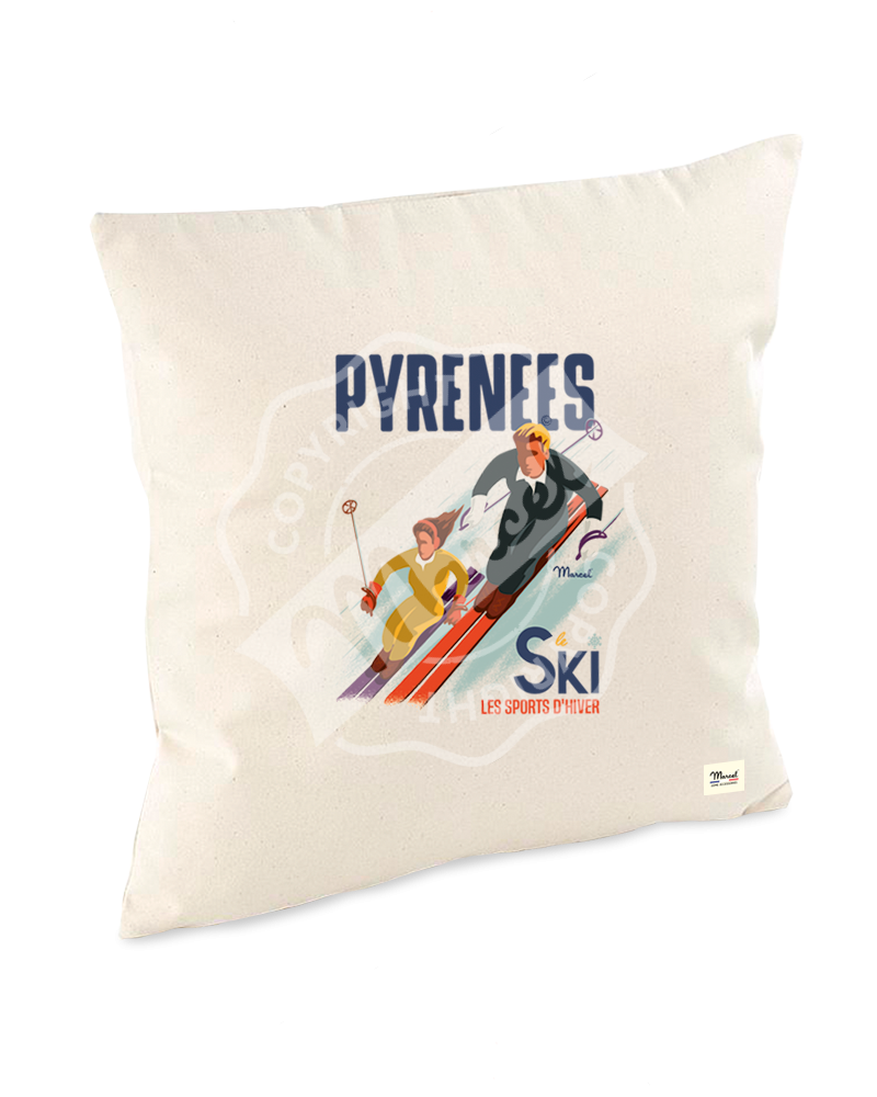 """Cushion """"Lucien"""" - Les Skieurs"""