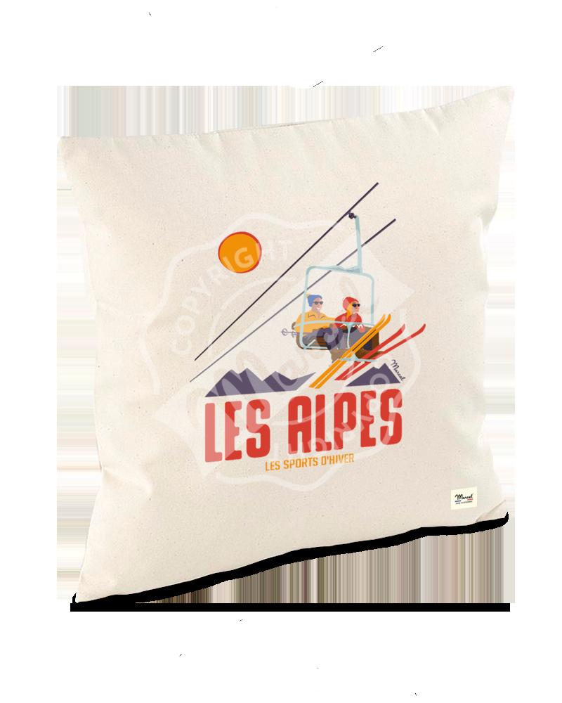 """Cushion """"Lucien"""" - Le Télésiège"""