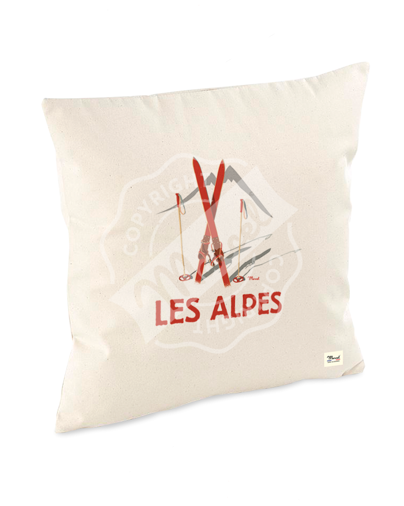 "Cushion "" Lucien "" - Les Skis Rouges"