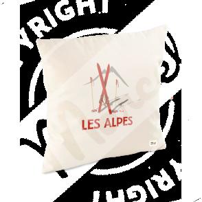 """Coussin """"Lucien"""" - Les Skis Rouges"""