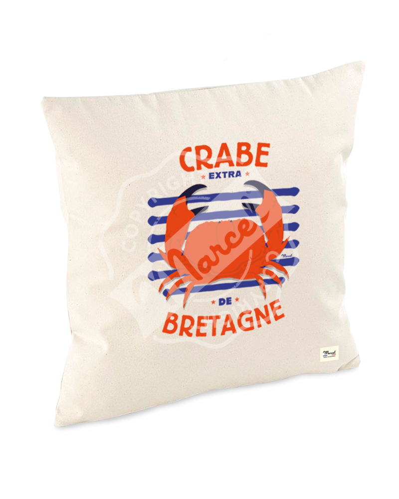 "Cushion Cover "" Lucien "" - CRABE"