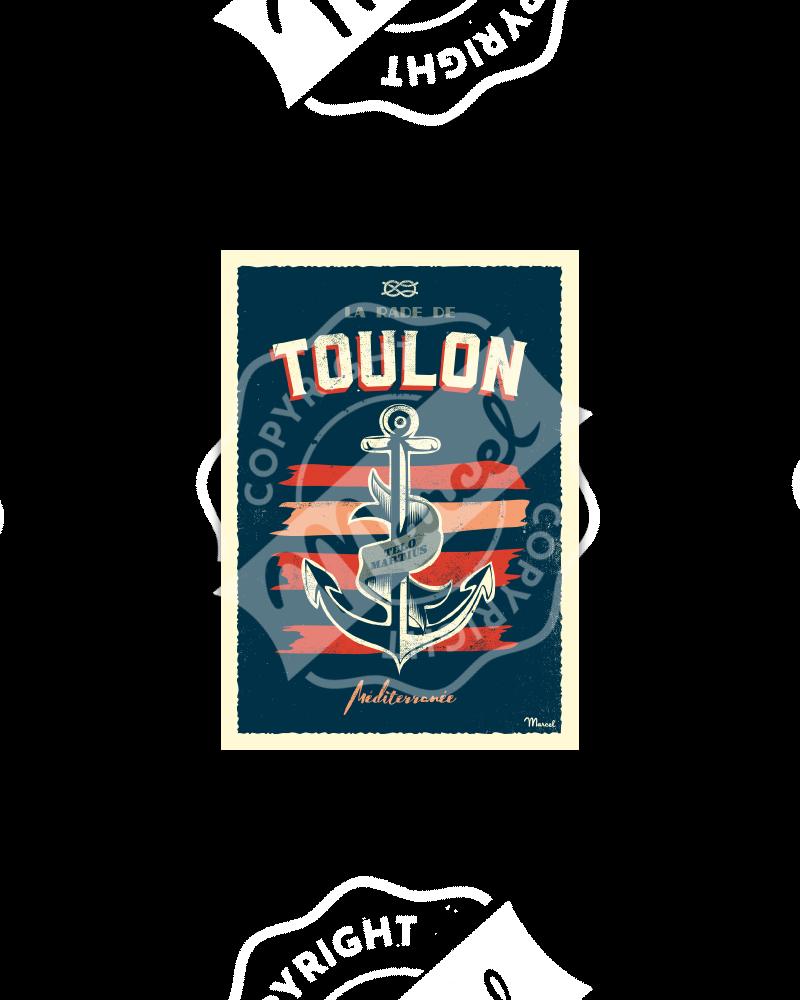 Carte Postale TOULON ''Encre Marine''