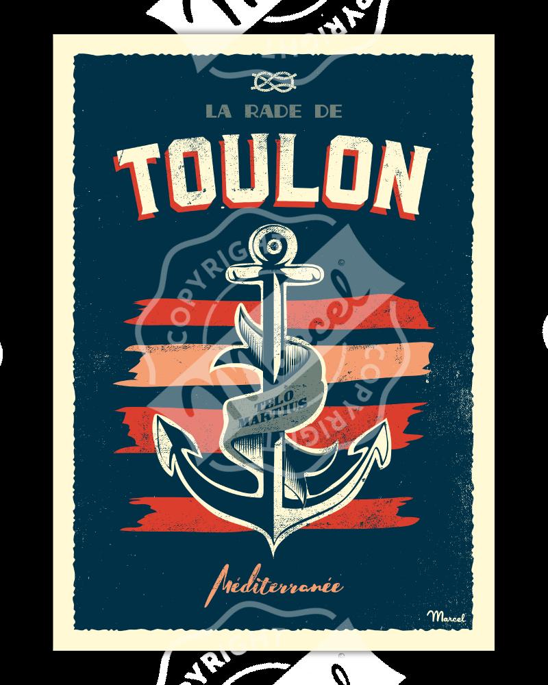 """Affiche TOULON """"Encre Marine"""""""