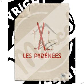 """Torchon de Cuisine """" Léon"""" - Les Skis Rouges"""