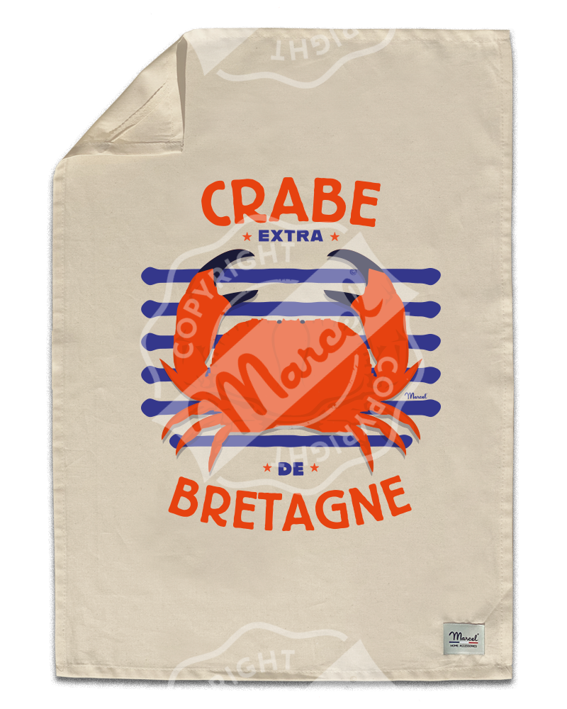 "Kitchen Towel "" Léon "" - CRABE"