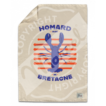 """Torchon de Cuisine """" Léon"""" - HOMARD"""
