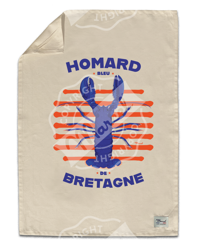 "Kitchen Towel "" Léon "" - HOMARD"