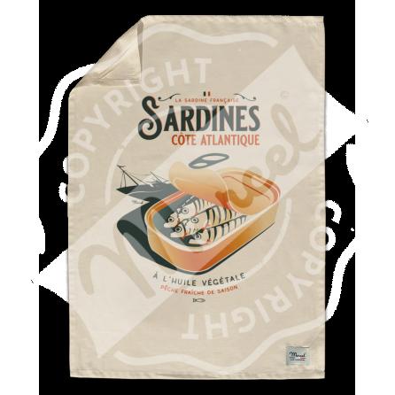 "Kitchen Towel "" Léon"" - SARDINES"
