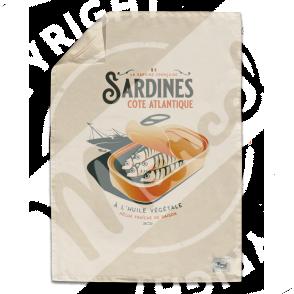 """Torchon de Cuisine """" Léon"""" - SARDINES"""