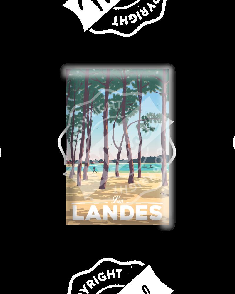 """MAGNET LANDES """"Au Bord du Lac"""""""