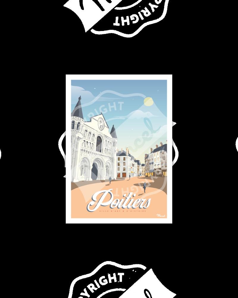 Postcard POITIERS