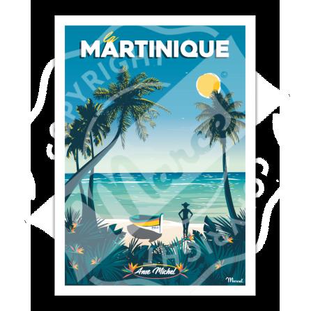 "Affiche MARTINIQUE ""Anse Michel"""
