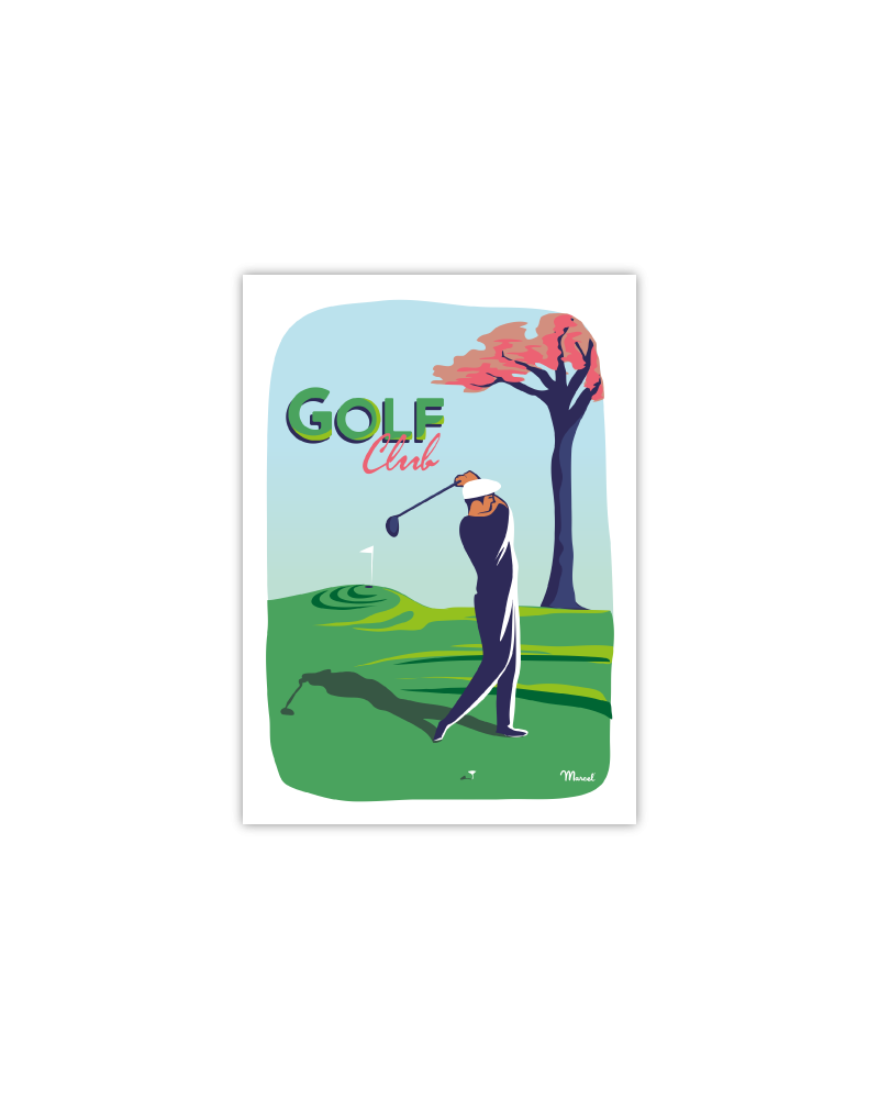 Postcard GOLF CLUB