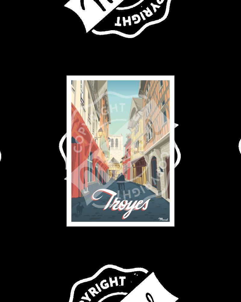 "Carte Postale TROYES ""Ruelle des Chats"""
