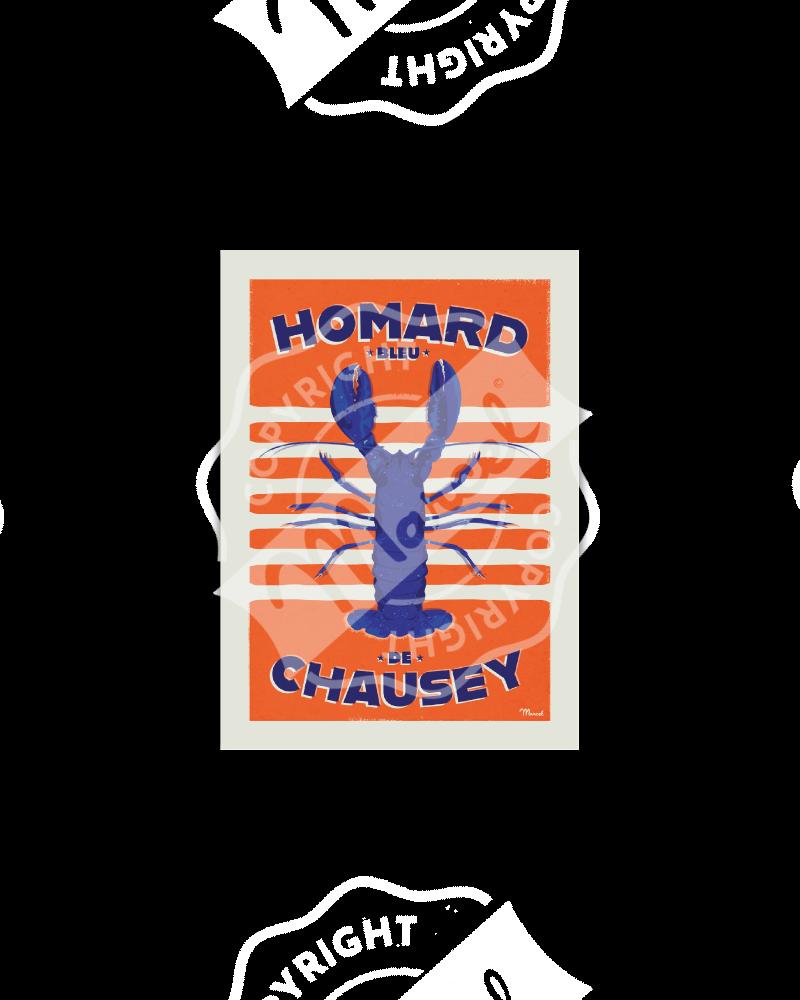 Postcard HOMARD BLEU DE CHAUSEY