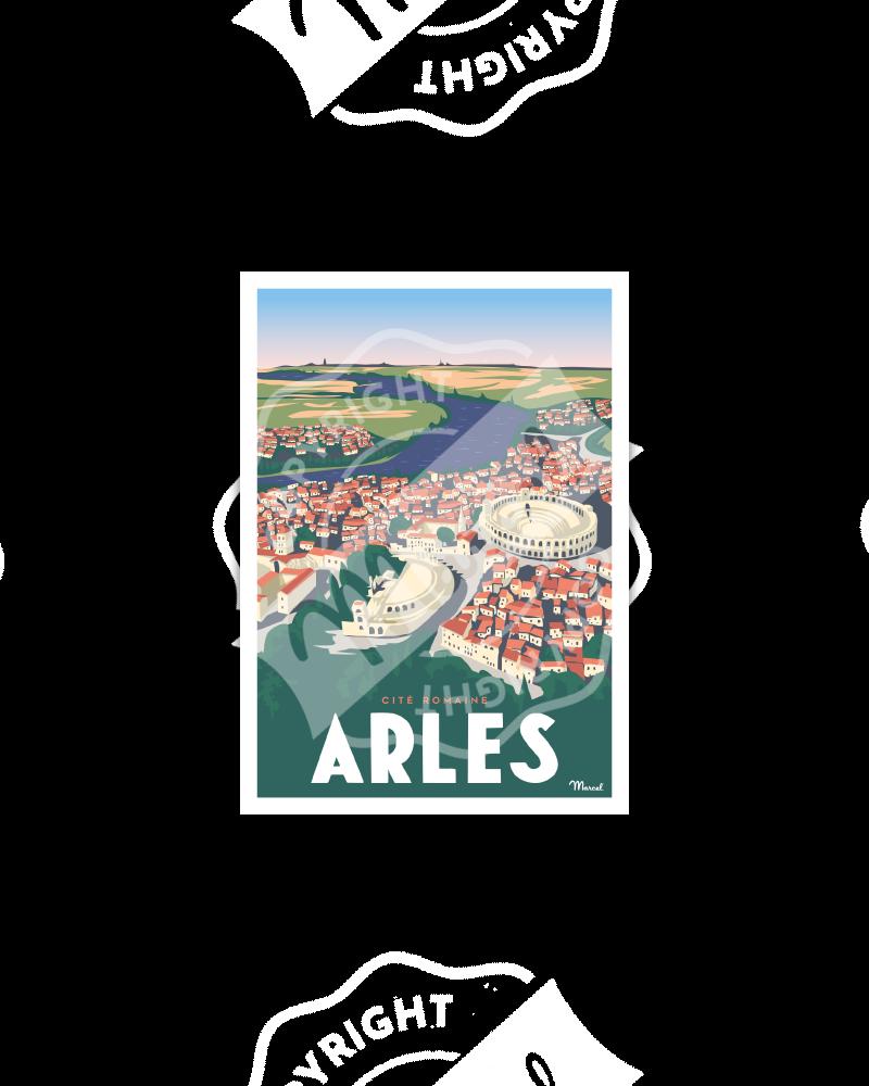 """Postcard ARLES """"Cité Romaine"""""""