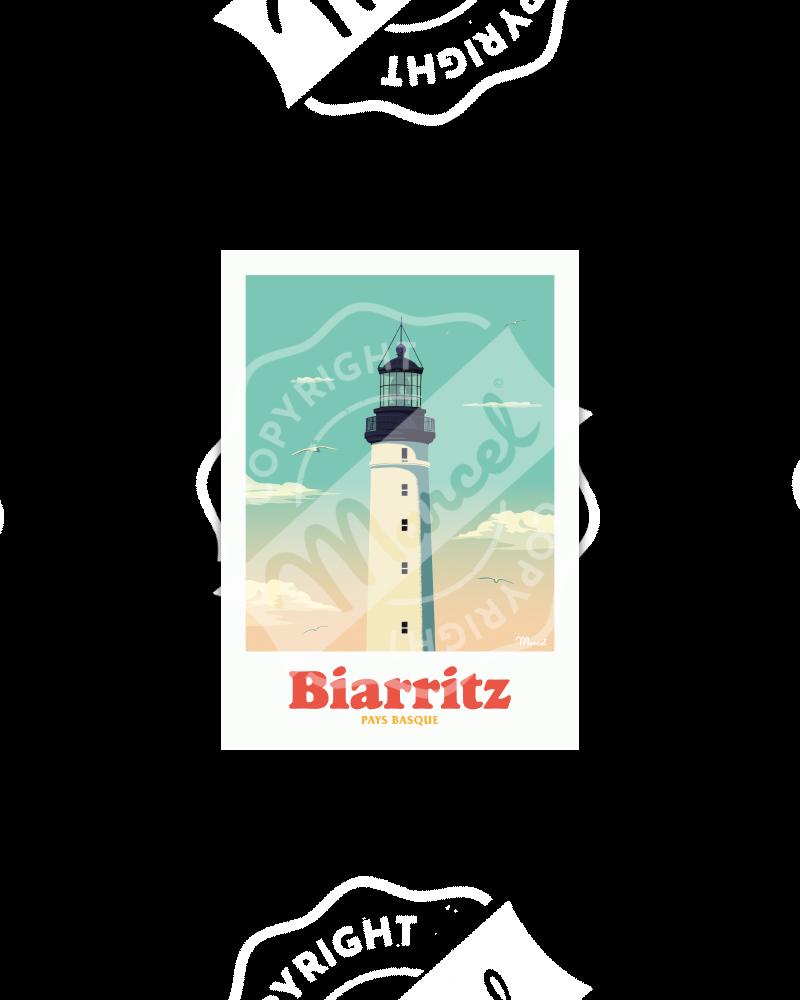 "Carte Postale BIARRITZ ""Le Phare"""