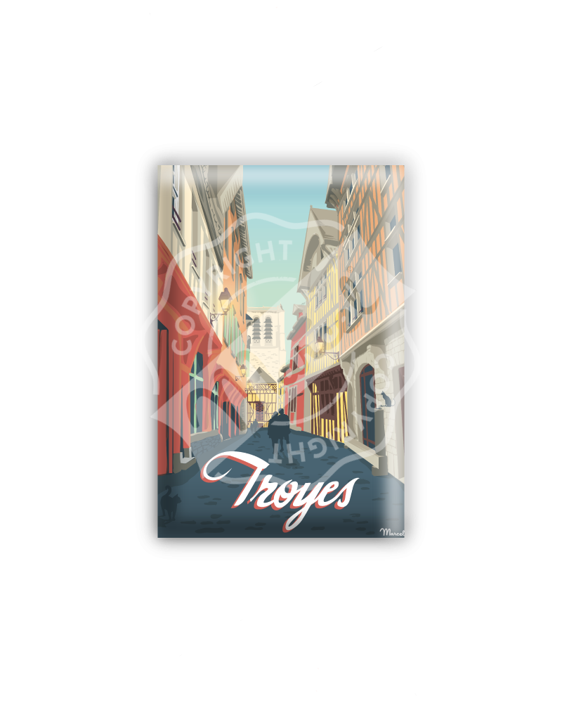 "MAGNET TROYES "" Ruelle des chats """
