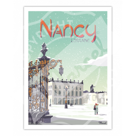 "Affiche NANCY "" Place Stanislas """